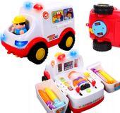 Ambulans dla dzieci interaktywna karetka światła + dźwięki U138