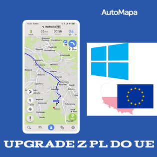 Upgrade AutoMapa Polska do Europy Windows CE/PC