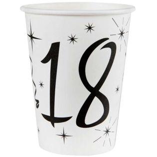 """Kubeczki papierowe """"18 White"""", SANTEX, 250 ml, 10 szt"""