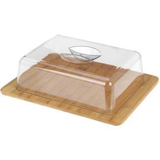 Bambusowa Deska Do Serów Z Kloszem Eh Excellent Houseware