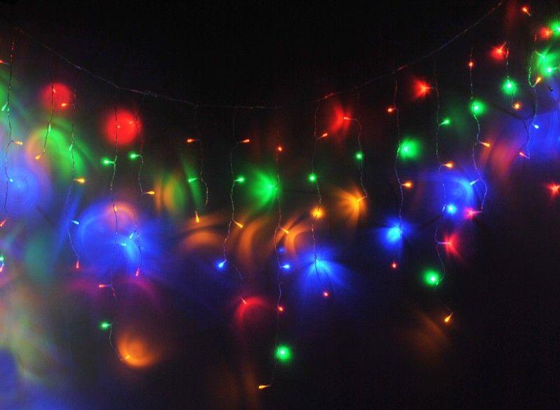 Sople Zewnętrzne 200 Led Lampki Kurtyna Multicolor 3014
