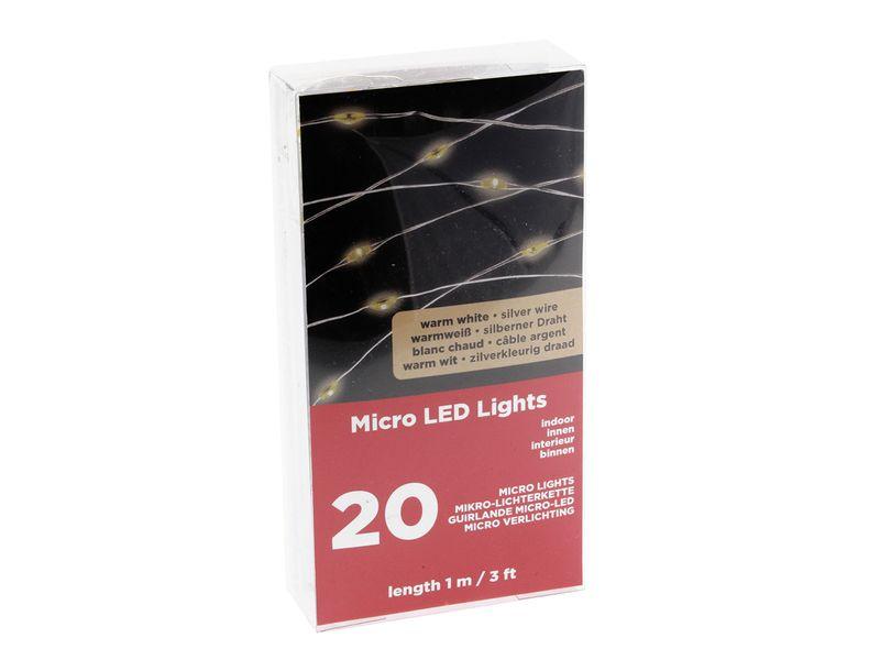 LAMPKI DRUCIKI MICROLED Mikro 20l Ciepłe, Baterie zdjęcie 3