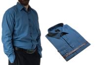 51/52 - 7XL DUŻA koszula męska bawełniana stalowa