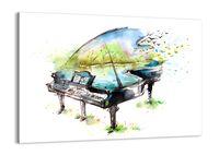 Obraz Na Płótnie - Fortepian Muzyka - 70X50 Cm - Aa70X50-3034