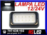Lampa 12 LED 10x6 cm Biała Zimna obrysówka przednia obrys 12v 24v