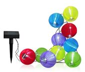 LAMPKI SOLARNE ogrodowe kulki COTTON BALLS łańcuch 10 kulek mix kolor zdjęcie 1