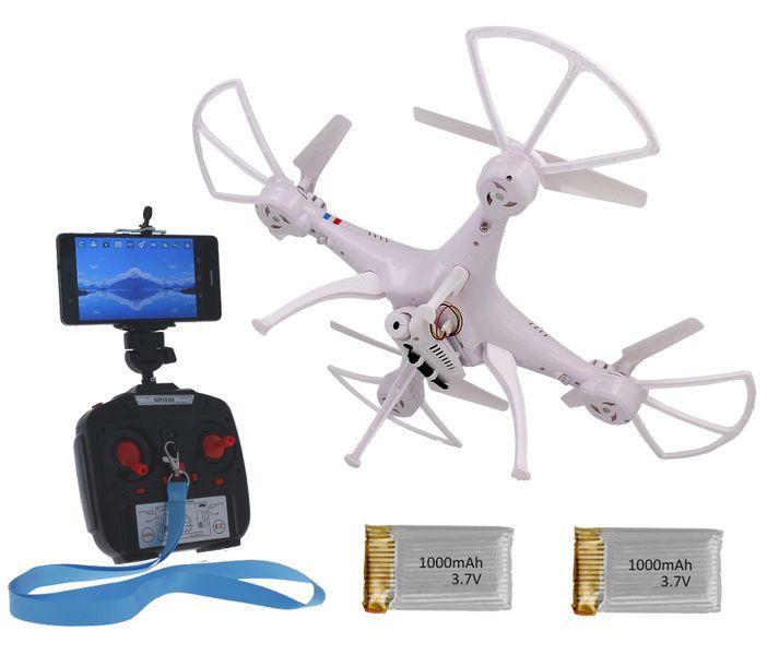 Dron TD08 II Generacji z Kamerą WiFi Podgląd na żywo 2x AKU Biały Z312 zdjęcie 5