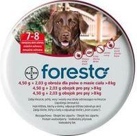 Obroża na kleszcze i pchły dla psa FORESTO PIES OBROŻA do 8 Kg