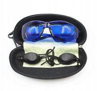 Ochronne okulary zestaw 2 pary ściereczka etui