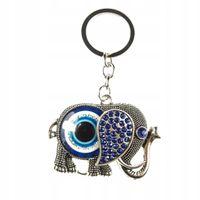 Piękny brelok oko proroka słoń evil eye talizman