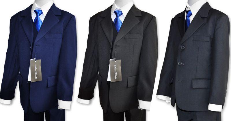 Garnitur chłopięcy + koszula krawat 134/140 zdjęcie 2