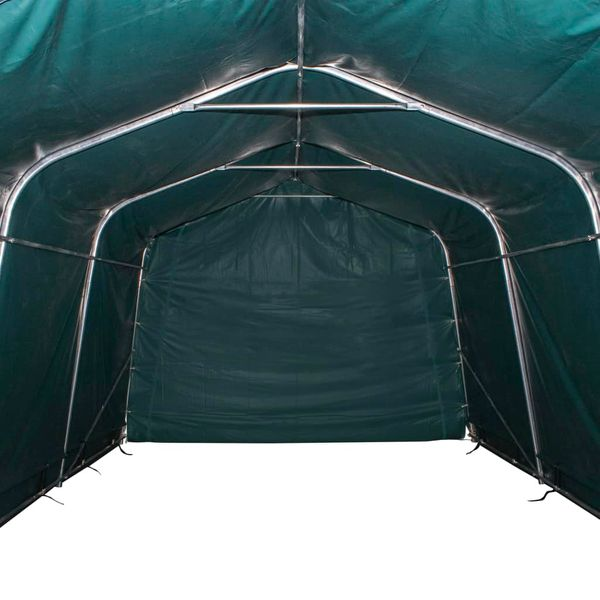 Przenośny namiot dla bydła, PVC, 3,3 x 12,8 m, ciemnozielony zdjęcie 6