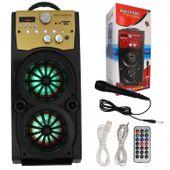 Głośnik Miniwieża Boombox 60W LED Bluetooth + Mikrofon RX-S50 G208Z zdjęcie 15