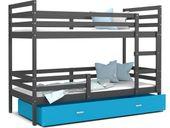Łóżko piętrowe JACEK COLOR  190x80  szuflada + materace zdjęcie 2