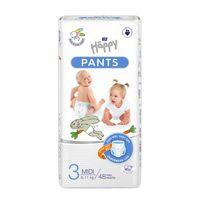 Pieluchomajtki dla dzieci Happy Pants Midi 6-11 kg Folia 48 szt.