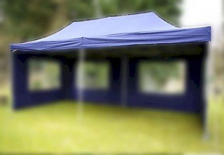 Dach do pawilonów, namiotów ogrodowych automatycznych 3x6 m, niebieski