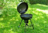 Grill BBQ okrągły ogrodowy na węgiel drzewny D02478 zdjęcie 4