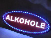 Reklama ALKOHOLE led szyld panel otwarte open neon diodowa