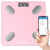 Inteligentna waga łazienkowa bluetooth Xtech różowa