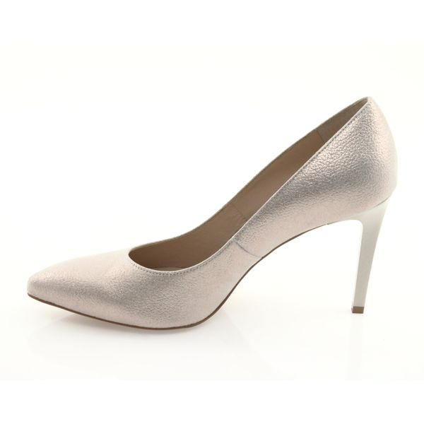 Czółenka buty damskie skórzane złote Anis r.40