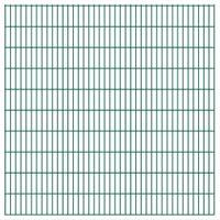 Panele ogrodzeniowe 2D - 2008x2030 mm 36 m Zielone VidaXL