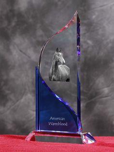 American Warmblood- Kryształowa statuetka z podobizną konia.