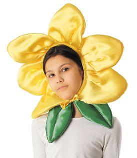 """Czapka """"Kwiatek"""" - żółty"""
