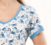 Piżama damska LUNA kod 473 niebieska roz. XXL zdjęcie 2