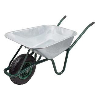 16182 Taczka wózek ogrodowy budowlana ocynkowana jednokołowa 100L 150k