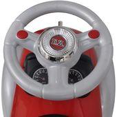 Czerwony samochód-jeździk retro z drążkiem do pchania zdjęcie 7