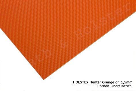 HOLSTEX Carbon Hunter Orange - 150x200mm gr. 1,5mm
