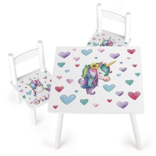 Stolik z krzesełkami bajeczny jednorożec