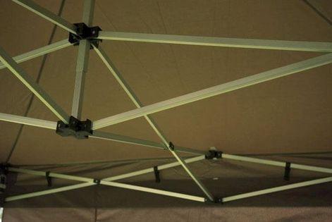 Namiot ogrodowy 3x6 m automatyczny, beżowy pawilon handlowy ze ściankami