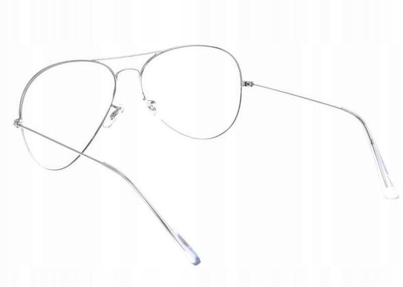 Aviator okulary pilotki oprawki korekcyjne metal zdjęcie 3