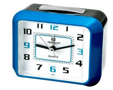 Perfect 1011S Budzik wskazówkowy, zasilanie bateryjnie, alarm, drzemka, podświetlenie, szerokość ok. 9 cm