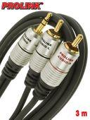 Prolink Exclusive kabel Jack 3,5 mm - 2RCA 3 m