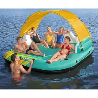 Lumarko 5-osobowy materac dmuchany Sunny Lounge, 291x265x83 cm!