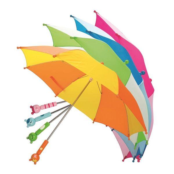 Parasolka z drewnianym uchwytem zdjęcie 1