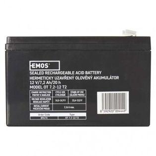 Akumulator AGM 12V 7,2Ah faston 6,3