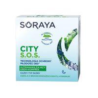 Soraya City S.o.s. Ultranawilżający Krem-Kompres Na Noc Do Każdego Rodzaju Skóry 50Ml