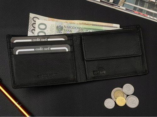 PIERRE ANDREUS portfel skórzany męski RFID M003 czarny na Arena.pl
