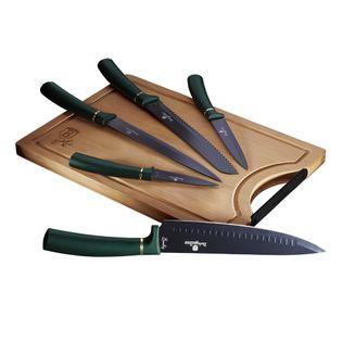 Zestaw Noży Z Deską 6-Ele Berlinger Haus Metallic Emerald Line Bh-2551