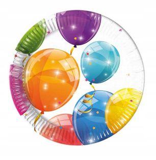 Talerzyki baloniki na URODZINY ROCZEK 8szt