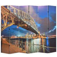 Składany parawan, 228x170 cm, motyw Mostu Portowego w Sydney
