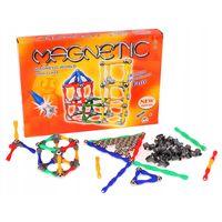 Klocki Magnetyczne Kolorowe Edukacyjne 120 elementów Y155