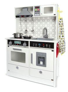 Drewniana kuchnia do zabawy White Modern