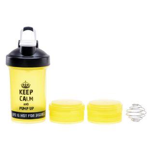 Bidon shaker IQ Alpha żółty na siłownię 500ml