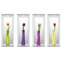 Naklejki na ścianę ścienne Kwiaty 3D WS-0186