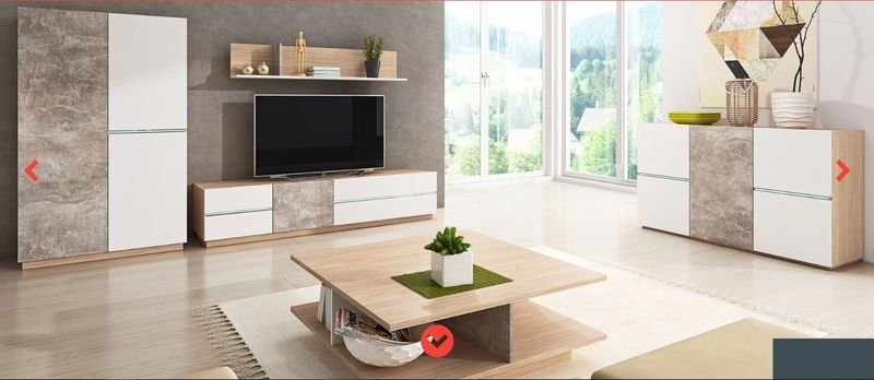 Stolik Pod Telewizor Rtv 135 Cm Nowoczesny Design Meble Do Salonu