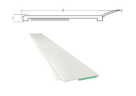 Listwa okienna PCV B=30mm C=1,5mm biała z uszczelką L=50mb